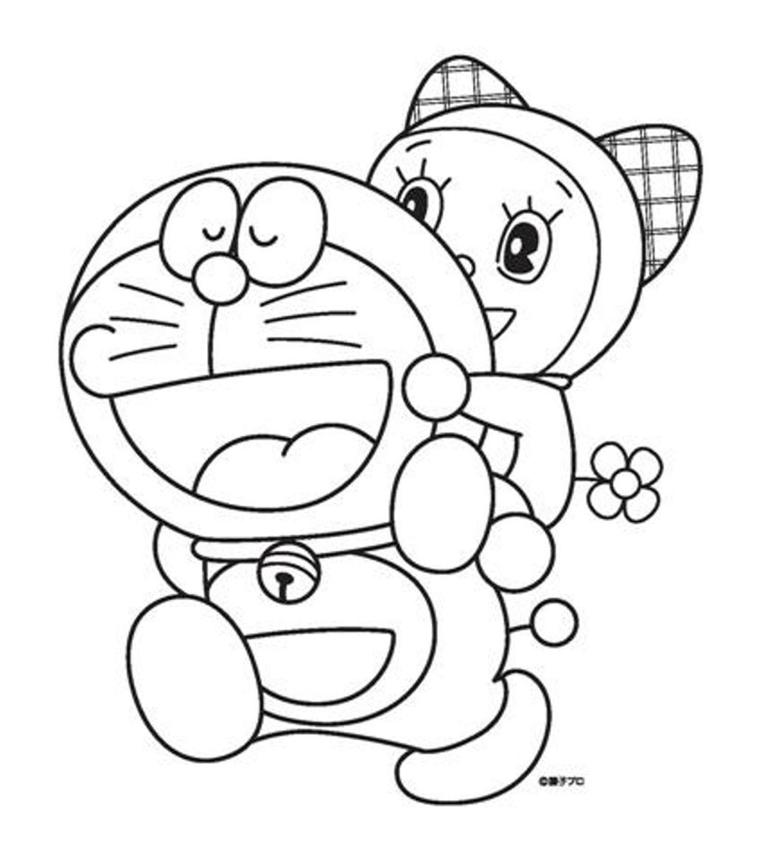 mẫu tranh tô màu doremon 012